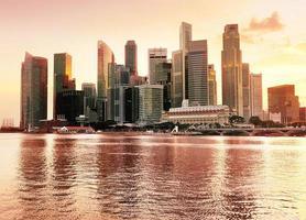 Blick auf die Innenstadt von Singapur