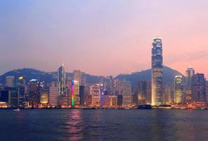 Hong Kong Victoria Hafen Morgen foto