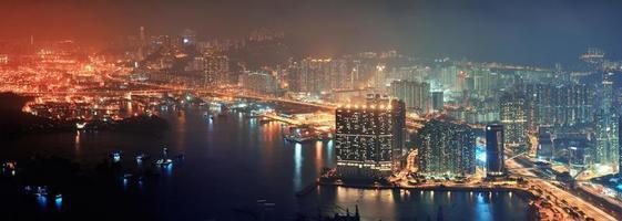 Hong Kong Luftnacht foto