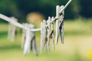 Wäscheklammern foto