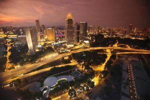 Asien Singapur Skyline foto