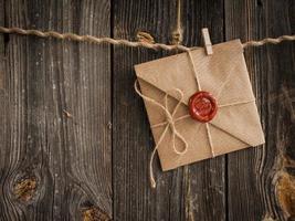 Liebesbrief und Bleistift foto