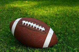 Fußball auf Gras foto
