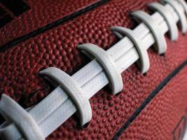 Fußball Schnürsenkel-schräg foto