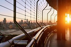 der Blick auf Cityscpe vom modernen Gebäude foto