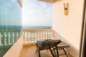 Luxus hoher Balkon foto