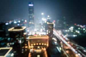 defokussierte städtische Skyline von Peking Gumao, China