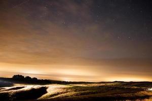 Sterne am Nachthimmel, Perseid Meteorschauer 2015 Burton Dassett foto