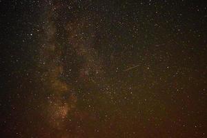 Perseiden und Milchstraße foto
