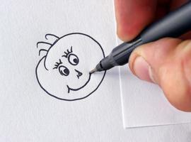 glückliches Gesicht zeichnen foto