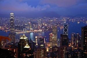 Nachtszene von Hongkong foto
