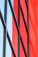 architektonische Linien eines Industriegebäudes foto
