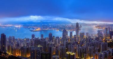 Hong Kong und Kowloon Panoramablick foto