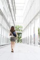 Geschäftsfrau in Bewegung foto
