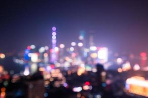 Bokeh von Shanghai foto