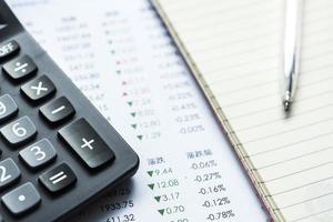 Finanzgeschäftsberechnung foto