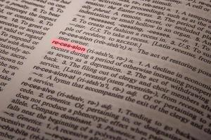 Rezession - Definition im Wörterbuch foto