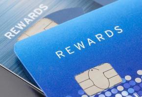 Nahaufnahme der Kreditkarte foto