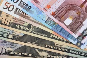 Währungen aufgefächert foto