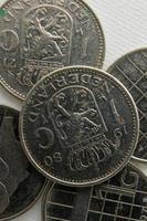 Vintage holländische Guldenmünzen foto
