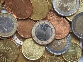 Euro Münzen Hintergrund foto