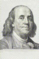 Nahaufnahme von Benjamin Franklin foto