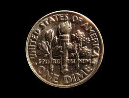 uns Münze - ein Cent foto