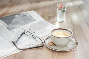 Frühstück eines Geschäftsmannes foto