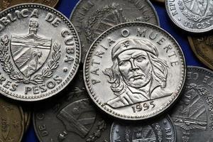 Münzen von Kuba. ernesto che guevara