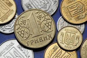 Münzen der Ukraine foto