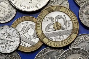 Münzen aus Frankreich foto