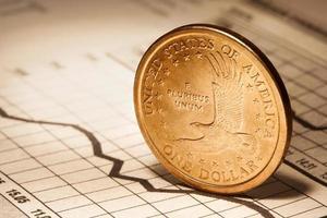 ein Dollar auf dem Chart