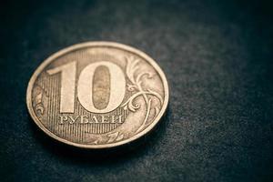 russische Münze - zehn Rubel. foto