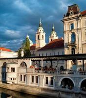Zentralmarkt von Ljubljana foto