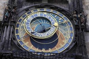 Detail der astronomischen Uhr foto