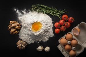 Biolebensmittel, Kochkonzept. foto