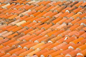 rote Dachziegel, Nahaufnahme