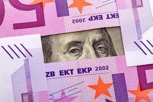 Augen Benjamin Franklin und Euro