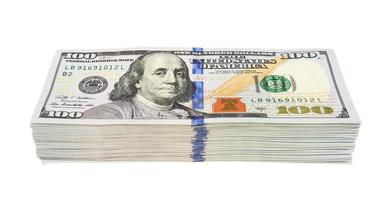 Stapel von Dollars foto