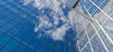 Wolkenkratzer auf Himmelhintergrund foto
