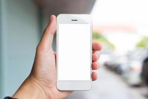 Selfie-Ansicht der Handynutzung foto