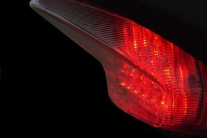 schönes Bremslichtfoto foto