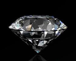 Diamantjuwel auf weißem Hintergrund foto