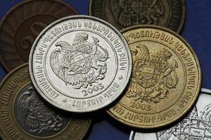 Münzen von Armenien foto