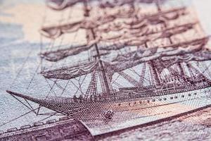 russische Rubelrechnung, Makrofotografie