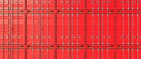 rote Versandbehälterwand 3d foto