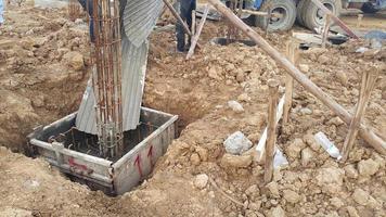 Gießen von Beton foto