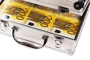 Metallgehäuse voller Euro foto