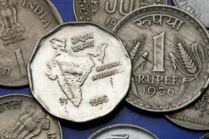 Münzen von Indien foto