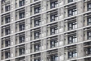 moderne Wohnung oder Eigentumswohnung Gebäude außen schließen foto
